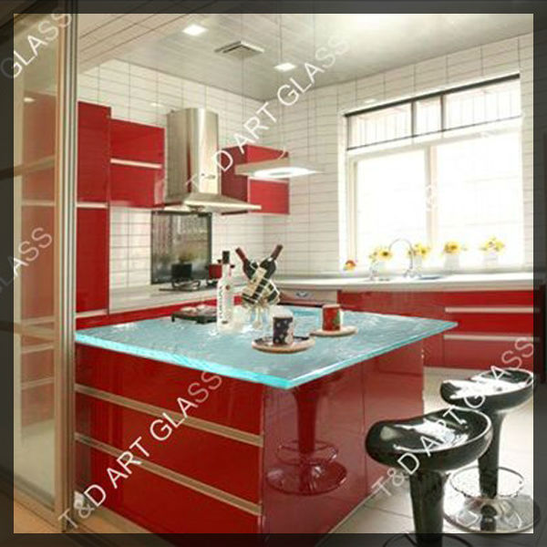 prefabricated red solid surface countertop