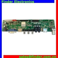 Universal Multi-purpose LED LCD TV Controller Board for full HD LCD Panel, Small Size LCD LED TV Mainboard