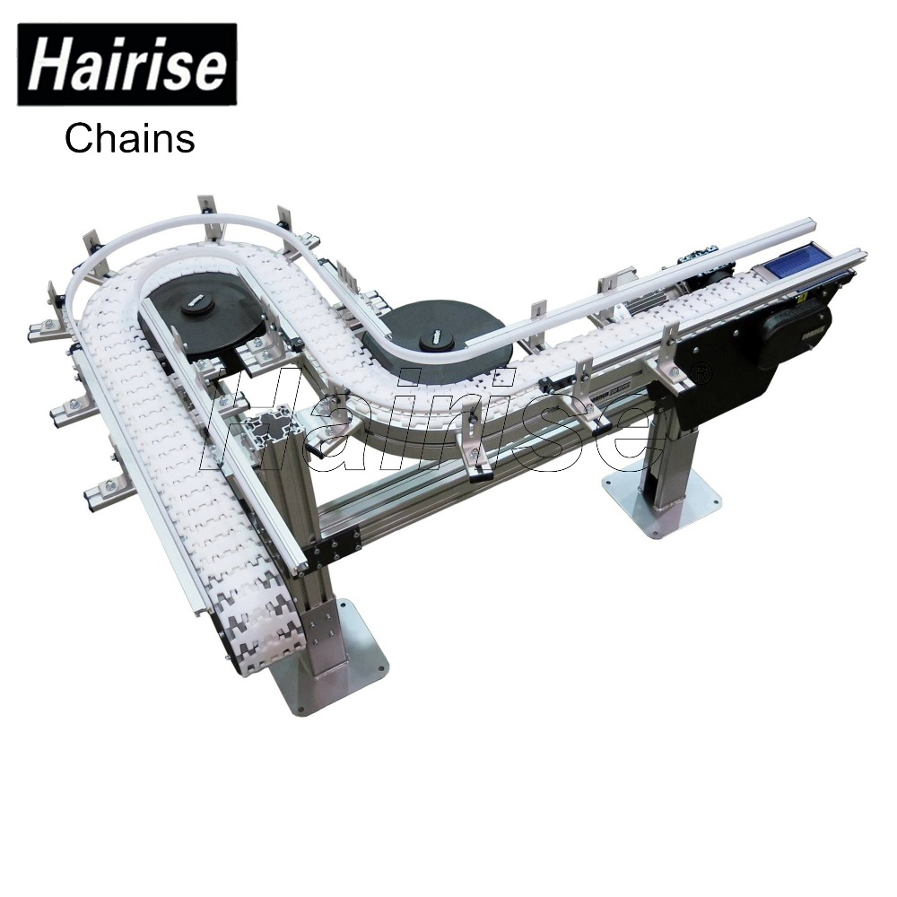 Plastic flexible chain and top chain for transmission conveyor
