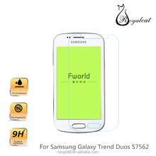 Hot New Product 2015 Mobile Phone High Clear 9H 2.5D Tempered Glass Screen Protector For Samsung Galaxy Trend Duos S7562