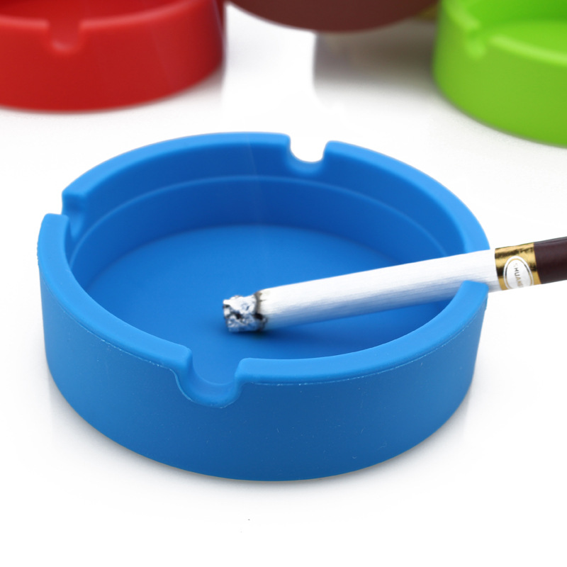 Fashionable customer logo silicone cigar ashtray for bar KTV home or party use