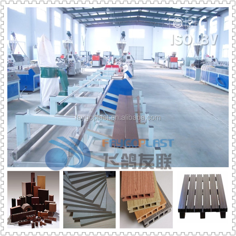 High quality wpc profile plate extrusion machine from Faygoplast