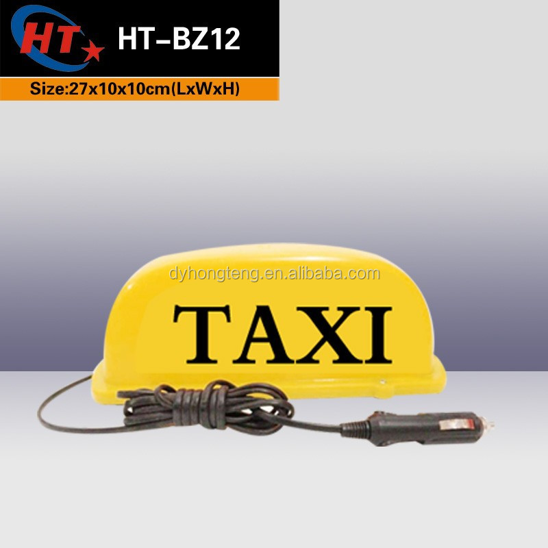 Magnetic 12v 24v LED bulb yellow taxi light