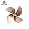 Electric marine brass boat four blade propeller for sale