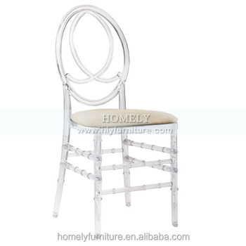 Wholesale New Banquet furniture gold silver white crystal clear acrylic plastic resin phoenix chair with cushion for wedding