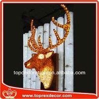Christmas lighting led deer head motif lights