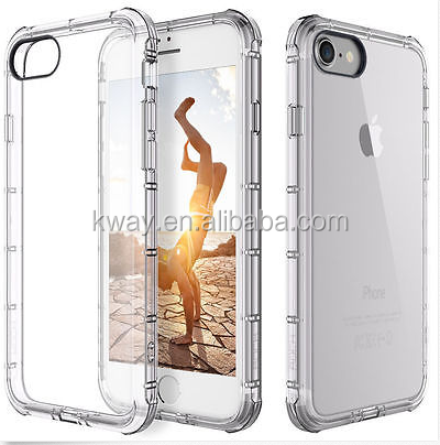 Anti-knock Air Cushion Cases For iPhone X 8 7 plus Case TPU Transparent Ultra-thin Soft Silicone Cover for iPhone 8 7 plus X