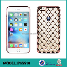 Luxury Shiny Diamond Cell Phone Case For iPhone 6 compatible TPU case