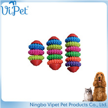 Mix color pet toys bone shaped TPR dog toy manufacturer,dog intelligence toy