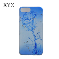 Matte surface smarter cover phone case for iPhone 7 with delicate flower pattern