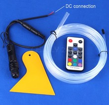 CHINLY Fiber Optic Lights with 4m Skirt Side Glow Optical Fiber Optic with PG7 DC Connection