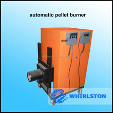 pellet burner with automatic ash cleaning