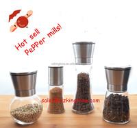 Premium Stainless Steel Salt and Pepper Grinder Set Adjustable Salt and Pepper Mill Set