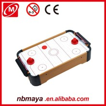 Houten mini air hockey game tafel