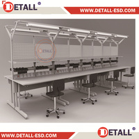 ESD assembly work desk for electronic cards repair (Detall)