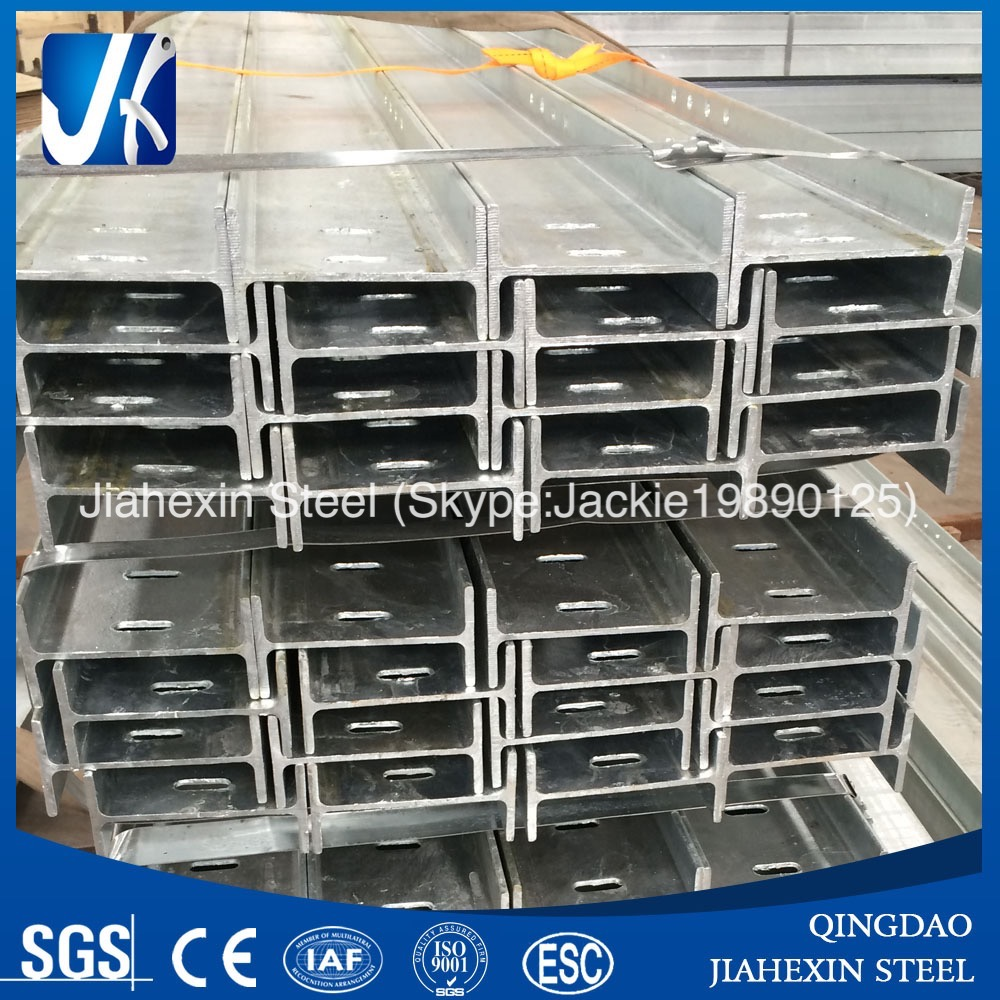 Galvanized steel profile for construction