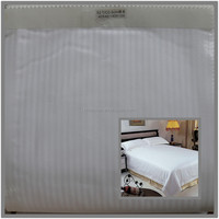 bleach white tc satin and satin stripe bedding fabric 200T 240T