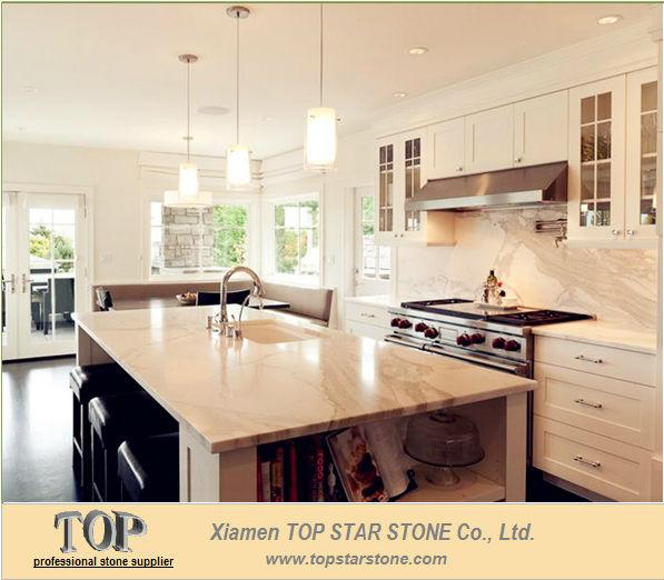 White Marble Eased Edge Bar Top