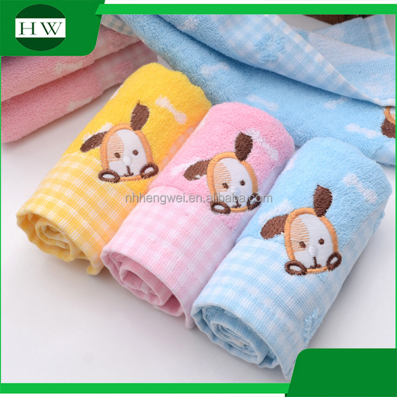 colorful customized 100% cotton soft baby,kids towel