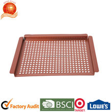 Factory audit non-stick bbq roasting pan square roast pan with holes