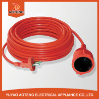 EU 2X0.75MM2 orange VDE 2pin european extension cable