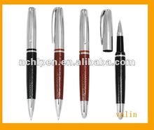 2012 Fancy metal leather ballpen for company item