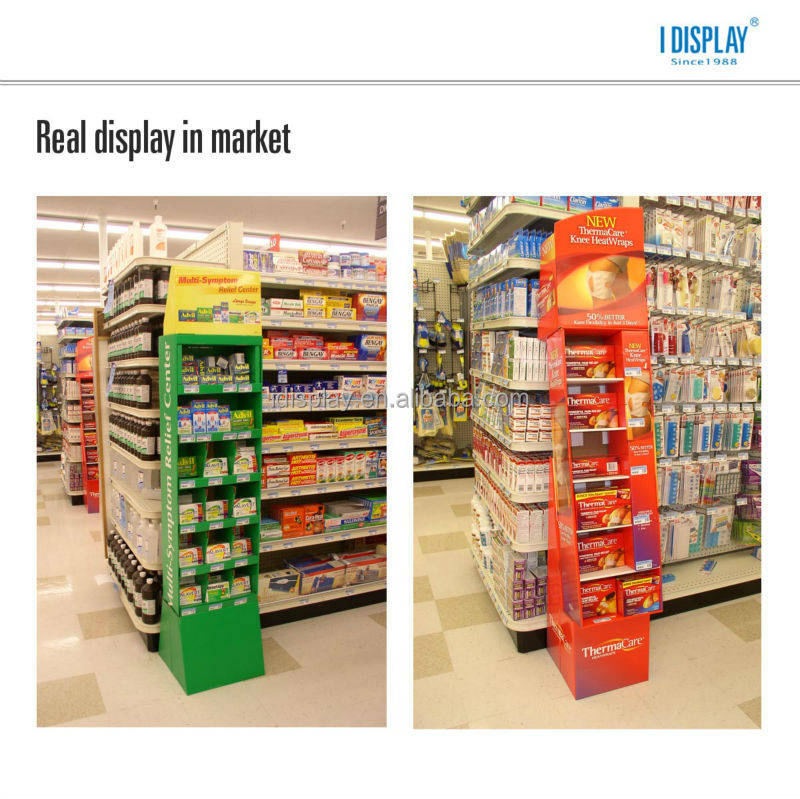 creative POP cardboard floor display with LCD video player for promotion