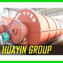 Waste to energy waste tyre scrap rubber pyrolysis to fuel oil plant