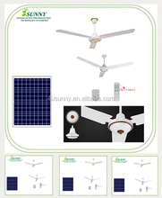"Solar power 56"" roof ceiling fan 5V to 18V DC solar rechargeable fans with LED lights remote control"