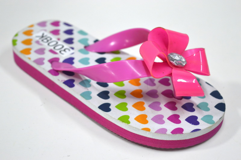 Vow Strap Custom Texture Kids Rubber Flip Flops Wholesale