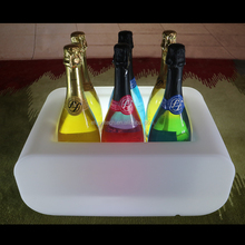 2017 trend products remote control rgb color changing led illuminated bottle holder fancy party beverage tubs