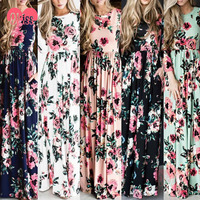 Three Quarter Sleeve Fashion Floral Printed