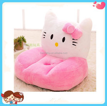 pink Hello Kitty 50cm Low MOQ cartoon cat soft plush chair sofa for kids