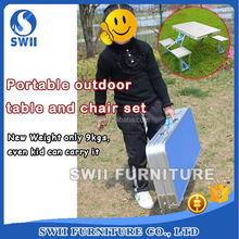 folding picnic garden table furniture of rattan portable picnic table