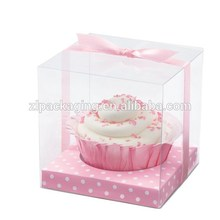 clear plastic cupcake boxes packaging with paper insert