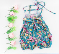 Wholesale newborn baby clothes cotton print flowers romper pictures of latest gowns designs wholesale baby clothes