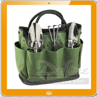 Multi-pocket canvas garden tote for Picnic and Tools Set