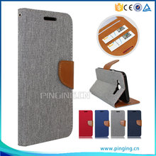 PU Leather flip with card slots case for ZTE Blade A910 , wallet leather case for ZTE Blade A910
