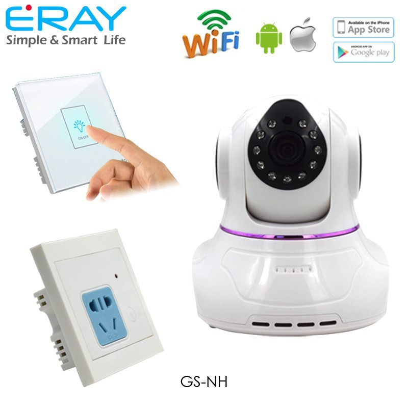 720P p2p smart home monitoring wireless video camera add home appliance control function