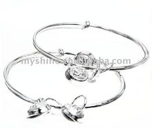 Sterling Silver baby charm bracelet with cute bells
