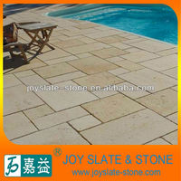 Limestone swimming pool tile
