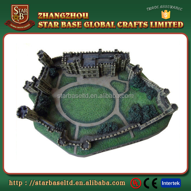 Custom mini castle building resin 3D decorative craft decoration