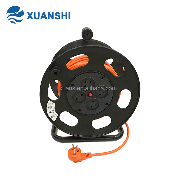SII standard Israel 50m small electric retractable plastic cable reel
