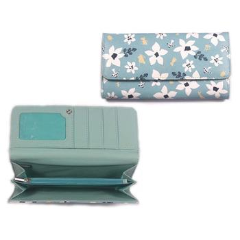 Stylish Young Girls Elegant Floral Pattern Handmade Leather  Wallet