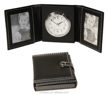 PU travel purse design alarm clock with custom photo