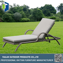 Elegant cane chaise lounge, lightweight folding beach lounge chair