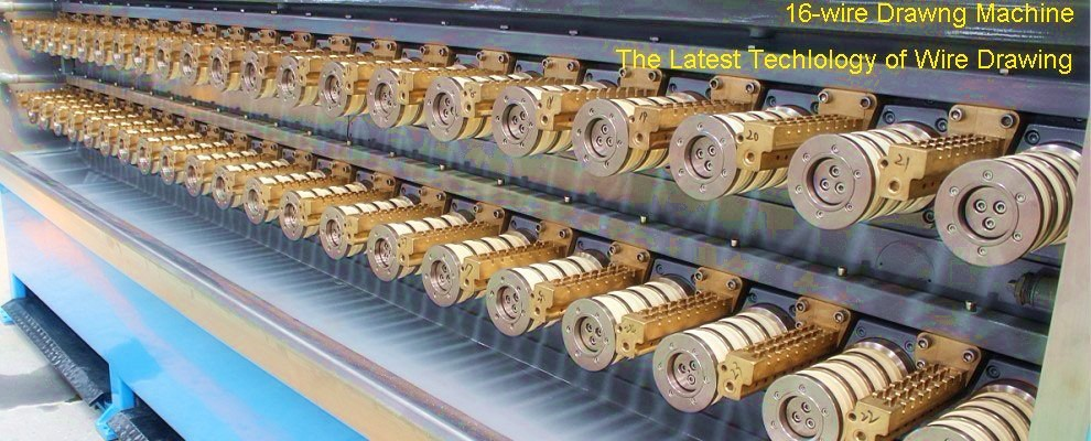 ( 16 wires )automatic multi wire drawing machine, electric wire and cable making equipment