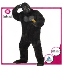 Custom made fashion themed birthday party cosplay gorilla costume