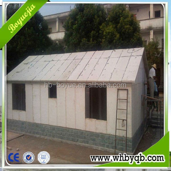 Low cost house prefabricated sandwich panel price/ prefabricated steel frame sandwich panel house
