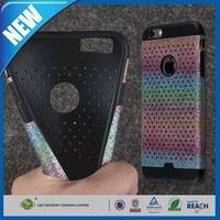 C&T Sublimation bling holes design different color tpu cell phone case for iphone 6